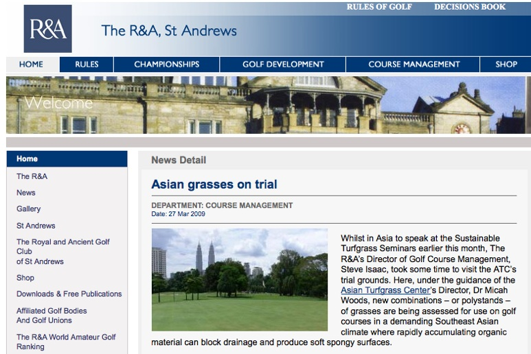 The R&A Homepage