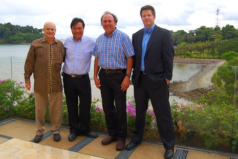 Micah woods and igolf directors before singapore forum