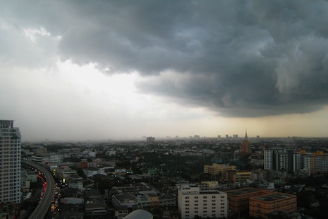 Approaching storm in bangkok
