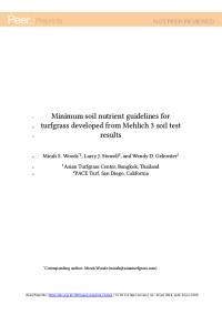 Minumum soil guidelines